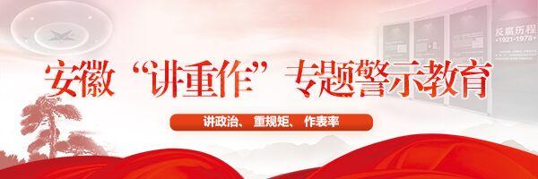 """【专题】安徽""""讲重作""""专题警示教育"""