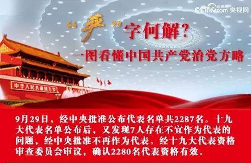 """【""""严""""字何解】一图带你看懂中国共产党治党方略"""