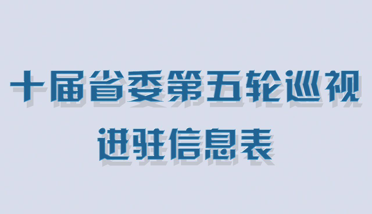 【图解】十届安徽省委第五轮巡视进驻信息表