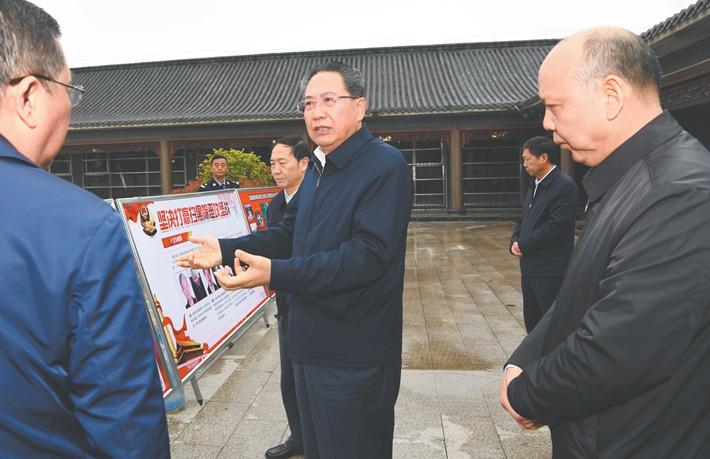 李锦斌在蚌埠滁州督导调研扫黑除恶专项斗争
