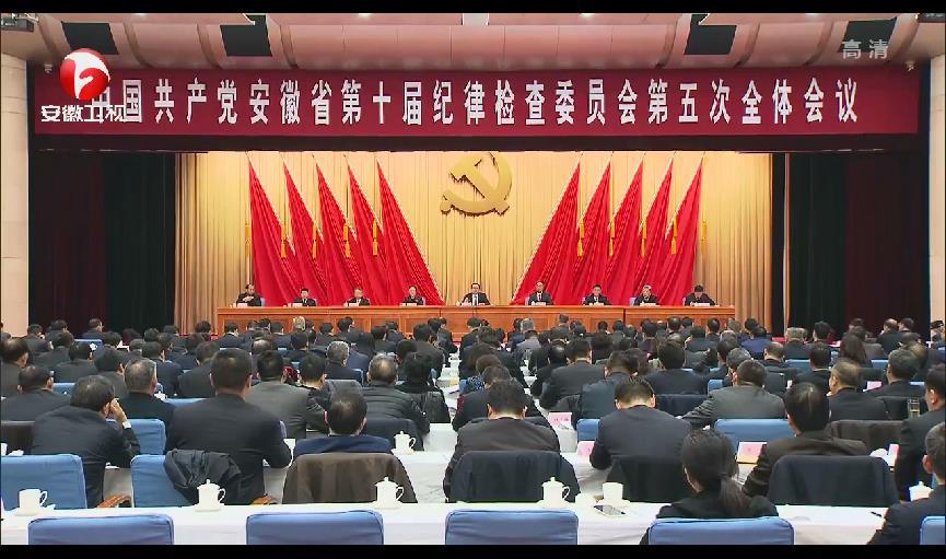 【視頻】中國共產黨安徽省第十屆紀律檢查委員會第五次全體會議決議