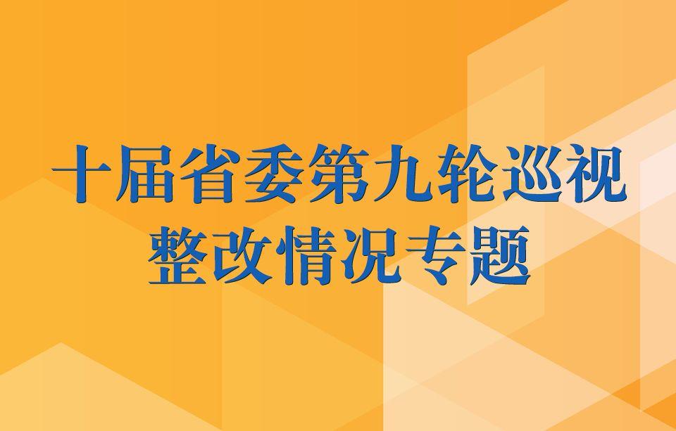 十届省委第九轮巡视整改情况专题