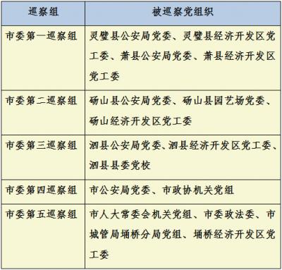 宿州:市委巡察组进驻16家单位开展巡察