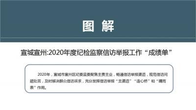 """宣城宣州:圖解2020年度紀檢監察信訪舉報工作""""成績單"""""""
