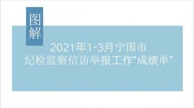 """图解:2021年1-3月宁国市纪检监察信访举报工作""""成绩单"""""""
