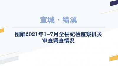 绩溪:图解2021年1-7月全县纪检监察机关审查调查情况