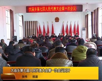 大庙乡第七届人民代表代会第一次会议召开