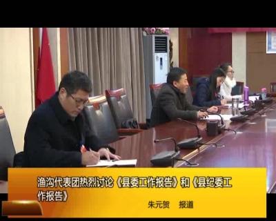 渔沟代表团热烈讨论《县委工作报告》和《县纪委工作报告》