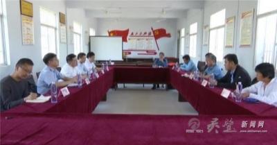 合肥工业大学到黄湾镇砂坝村督导扶贫工作