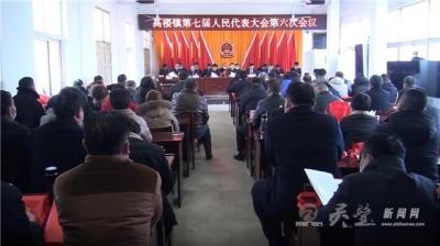 高楼镇召开第七届人民代表大会第六次会议