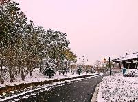 钟馗文化园雪景