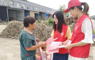 韦集镇开展青少年儿童防溺水宣传活动