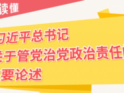 【图解】习近平总书记关于管党治党政治责任的重要论述