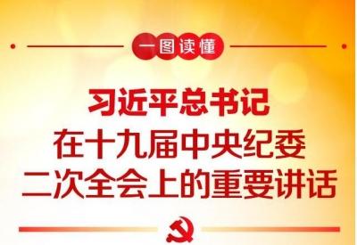 一图读懂:习近平总书记在十九届中央纪委二次全会上的重要讲话