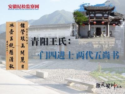 【徽风皖训】青阳王氏:一门四进士 两代五尚书