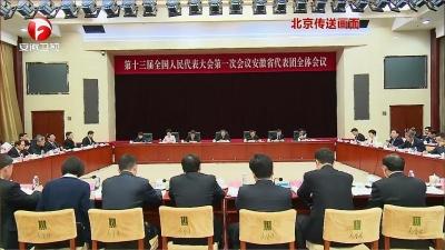 【纪检动态】安徽代表团举行全体会议 审议监察法草案修改稿等