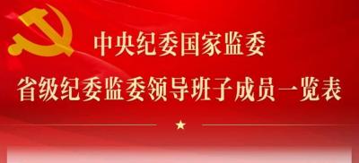 中央纪委国家监委  省级纪委监委领导班子成员一览表