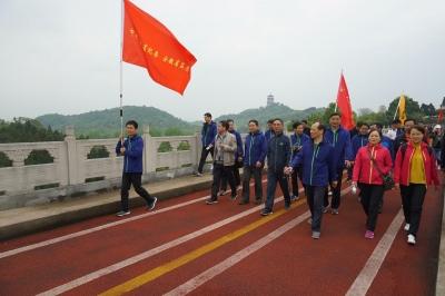 省纪委监委参加第十一届省直机关万佛湖环湖健身走活动