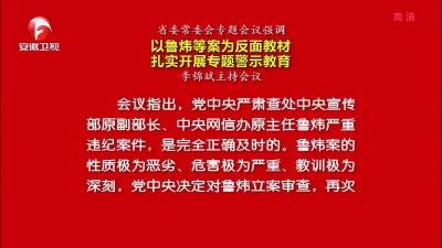 【纪检动态】省委常委会专题会议强调 以鲁炜等案为反面教材 扎实开展专题警示教育