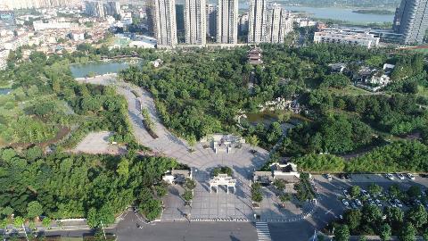 梅溪公园即梅氏故居俯瞰图