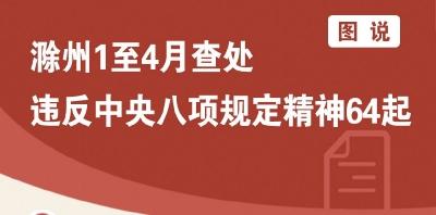 滁州:1至4月查处违反中央八项规定精神64起