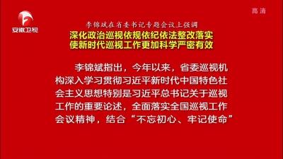 【視頻】李錦斌強調 深化政治巡視依規依紀依法整改落實 使新時代巡視工作更加科學嚴密有效