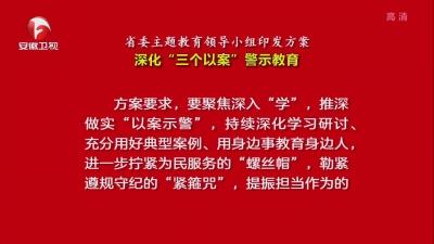 """【视频】省委主题教育领导小组印发方案 深化""""三个以案""""警示教育"""