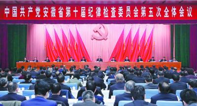 中国共产党安徽省第十届纪律检查委员会第五次全体会议决议