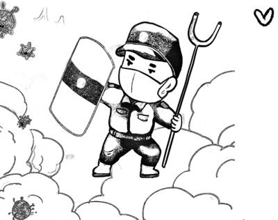 【廉政漫画】众志成城 战疫必胜
