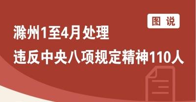 滁州: 1至4月处理违反中央八项规定精神110人
