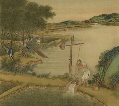 来看古画中的稻香与耕苦