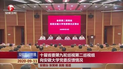 【纪检动态】十届省委第九轮巡视第二巡视组向安徽大学党委反馈情况