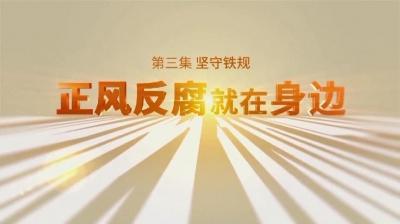 電視專題片《正風反腐就在身邊》第三集《堅守鐵規》