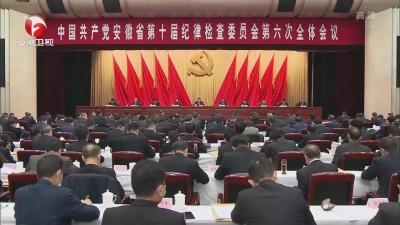 【纪检动态】中国共产党安徽省第十届纪律检查委员会第六次全体会议决议