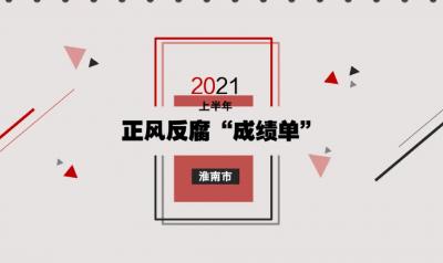 """淮南:图解2021年上半年正风反腐""""成绩单"""""""