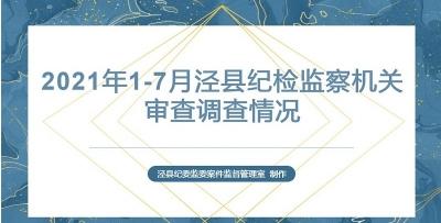 泾县:图解2021年1-7月全县纪检监察机关审查调查情况