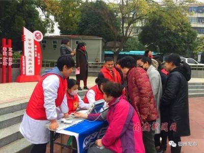 万里社区新时代文明实践活动: 健康惠民在身边