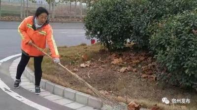 秦梅:累点没有啥 只要道路能干净