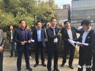 张海虹调研市城投集团汴北政务广场及停车场项目