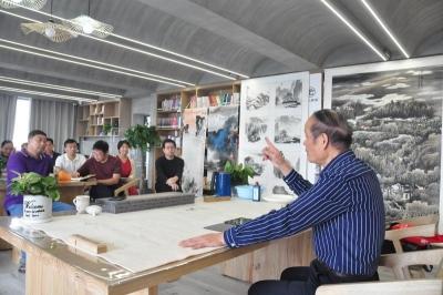 和县《中国写意山水画技法》专题讲座开讲
